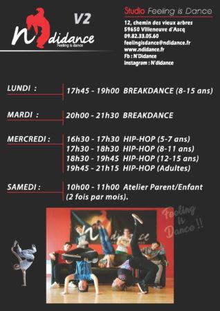 Planning des cours STUDIO Feeling is Dance - N'Di Dance
