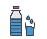 Régles sanitaires bouteille d'eau individuel